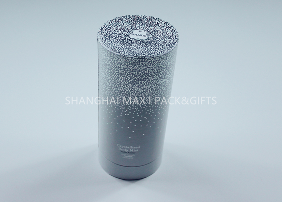 China Purple Luxury Round Cardboard Containers Perfume Spray Jewelry Packaging White Silver supplier