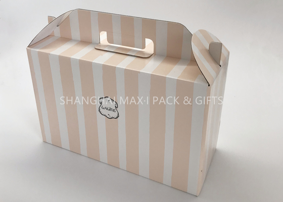 China Retail Corrugated Wine Gift Boxes With Handle Cardboard Shipping Moving Color Printing supplier