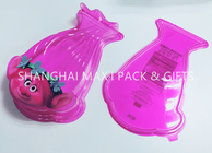 China Food Grade Pink Cotton Plastic Candy Containers For Party Favors Customized Special Shaped factory