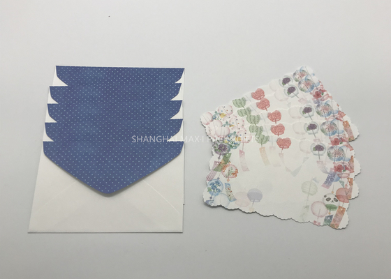 China Business Recycled Paper Cards And Envelopes Business Printed With Glitter Applied distributor