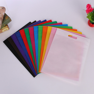 China Reusable Non Woven Fabric D Cut Bags Personalised Grocery Company Logo Eco Friendly distributor