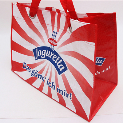 China Eco friendly Large Non Woven Laminated Tote Bags With Handle Carrier Shopping Advertising distributor