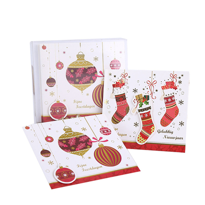 China Factory Directly Merry Christmas Greeting Card with Envelope Packed in PVC / PET Box distributor