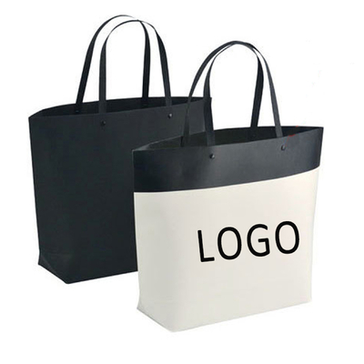 China Customized Logo Printed Gift Bag Bucket Shape Paper Bag With Plastic Handle 250x270x100mm distributor