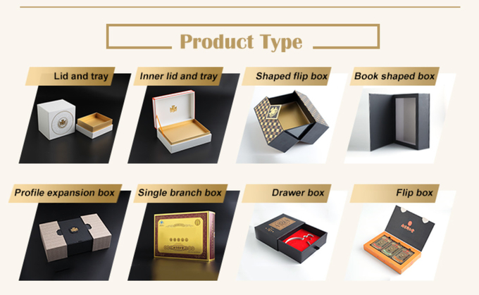 Magnetic Flap Color Printed Rigid Gift Boxes / Two Door Drawer Branded Packaging Boxes